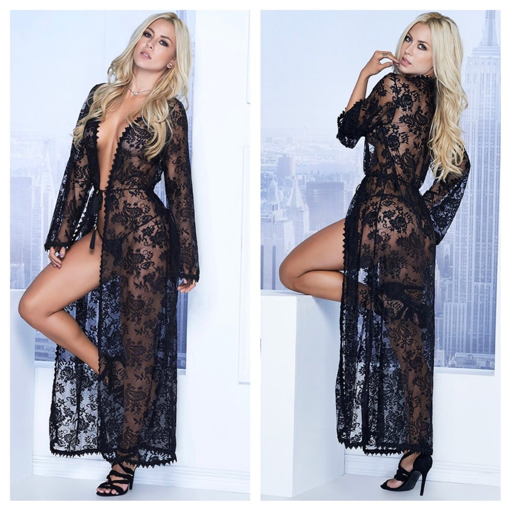 Image of Hello darling lace Robe