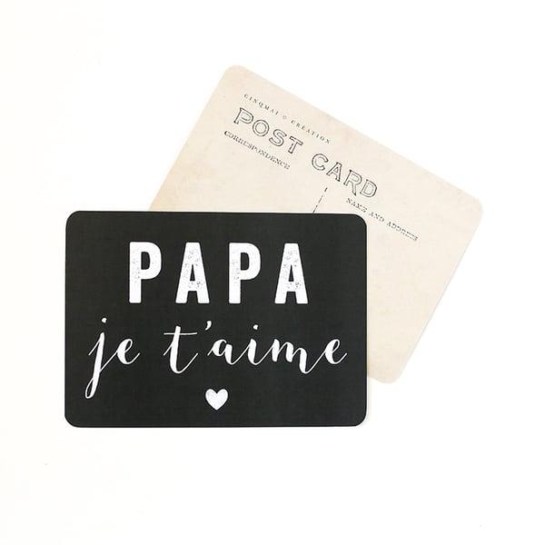 Image of Carte Postale PAPA JE T'AIME