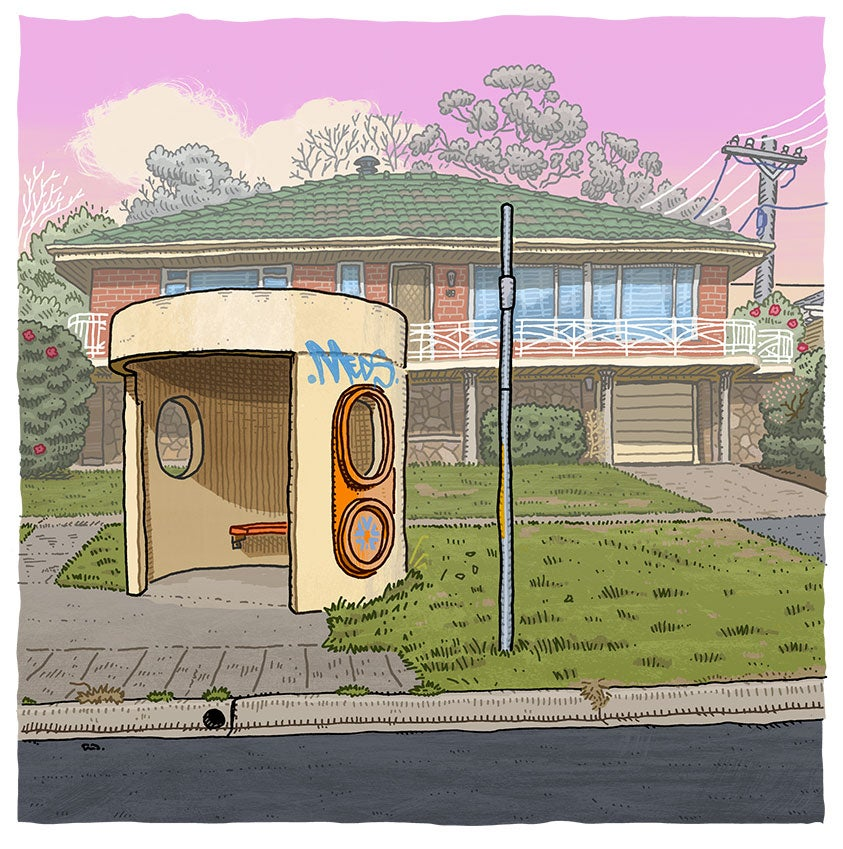 Image of Narrabundah, Caley Crescent, digital print