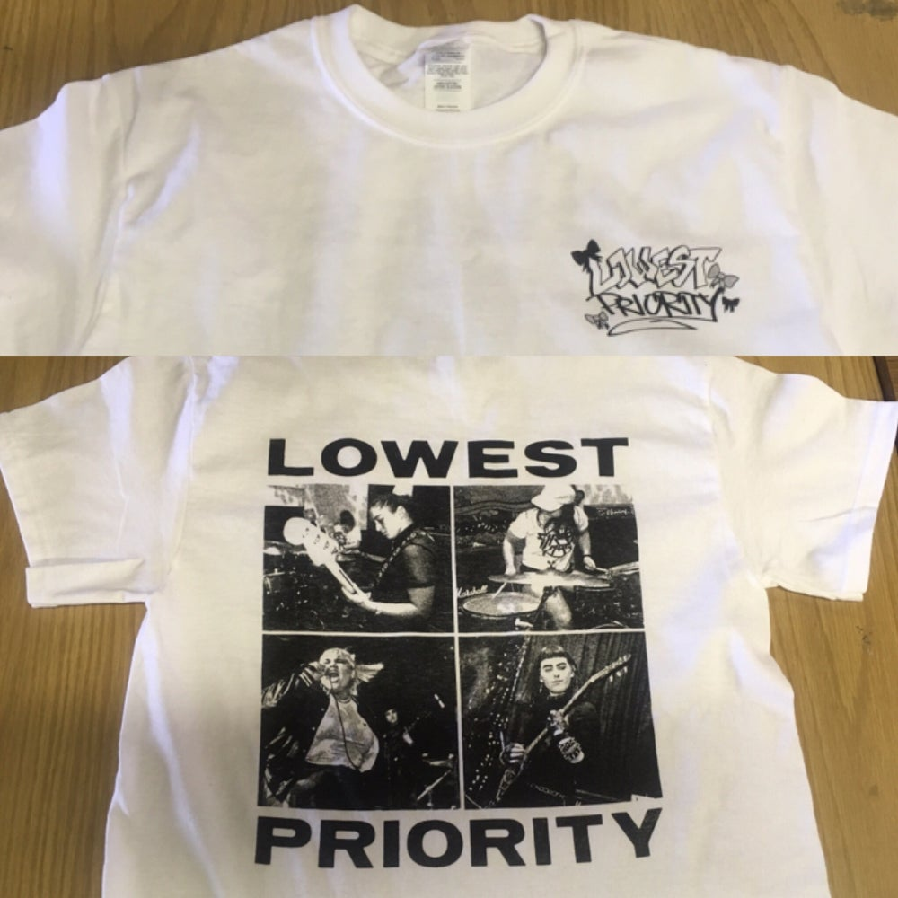 Image of White Screened Shirt (2XL ONLY)