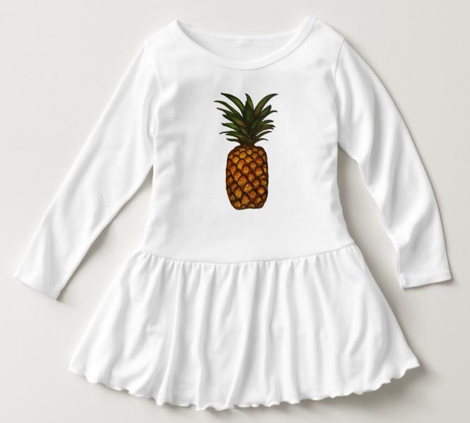 Image of Pineapple Toddler Ruffle Dress