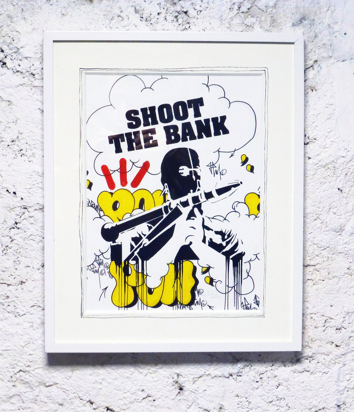 Image of SHOOT THE BANK X POW 1/1 2014