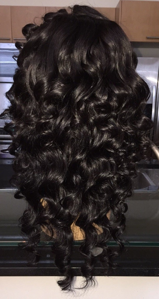 "Image of Indian Natural Waves 20"" Custom Frontal Wig!"