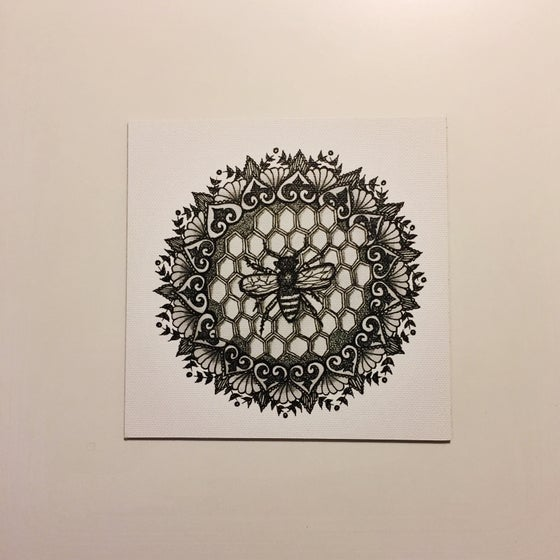 "Image of ""Honeycomb"" - Mini Canvas Print"