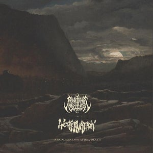 Image of SEMPITERNAL DUSK / ENCOFFINATION 'A Monument to the Abyss of Death' lp