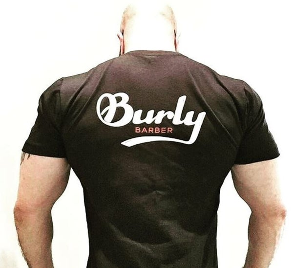 Image of Burly Barber T-Shirt - Black