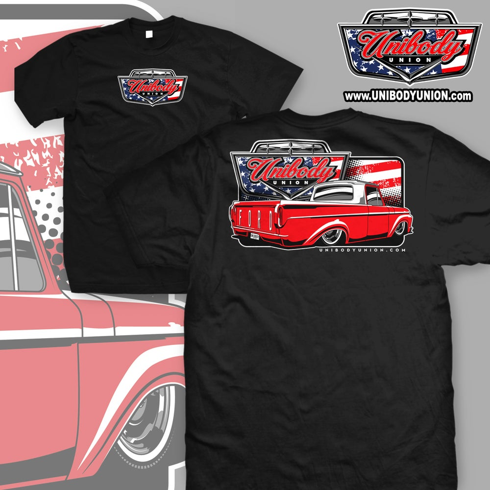 Image of Ford F100 Red, White & Blue T-Shirt