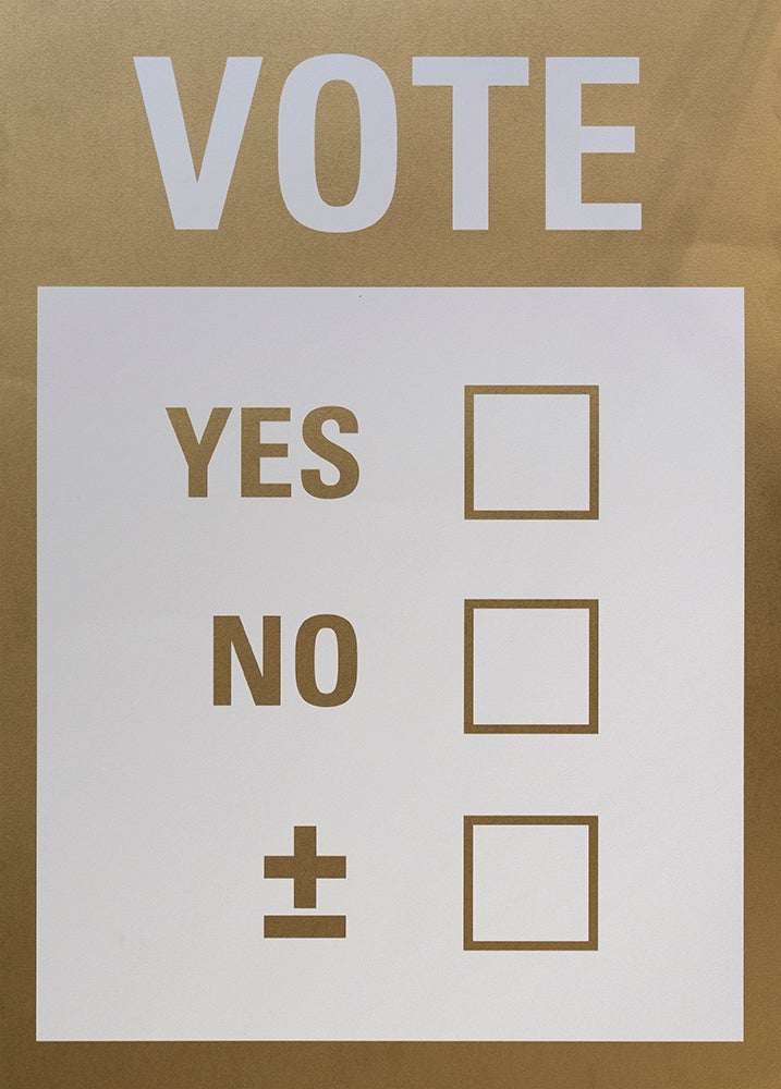 Image of ±Mais Menos± - Yes or No