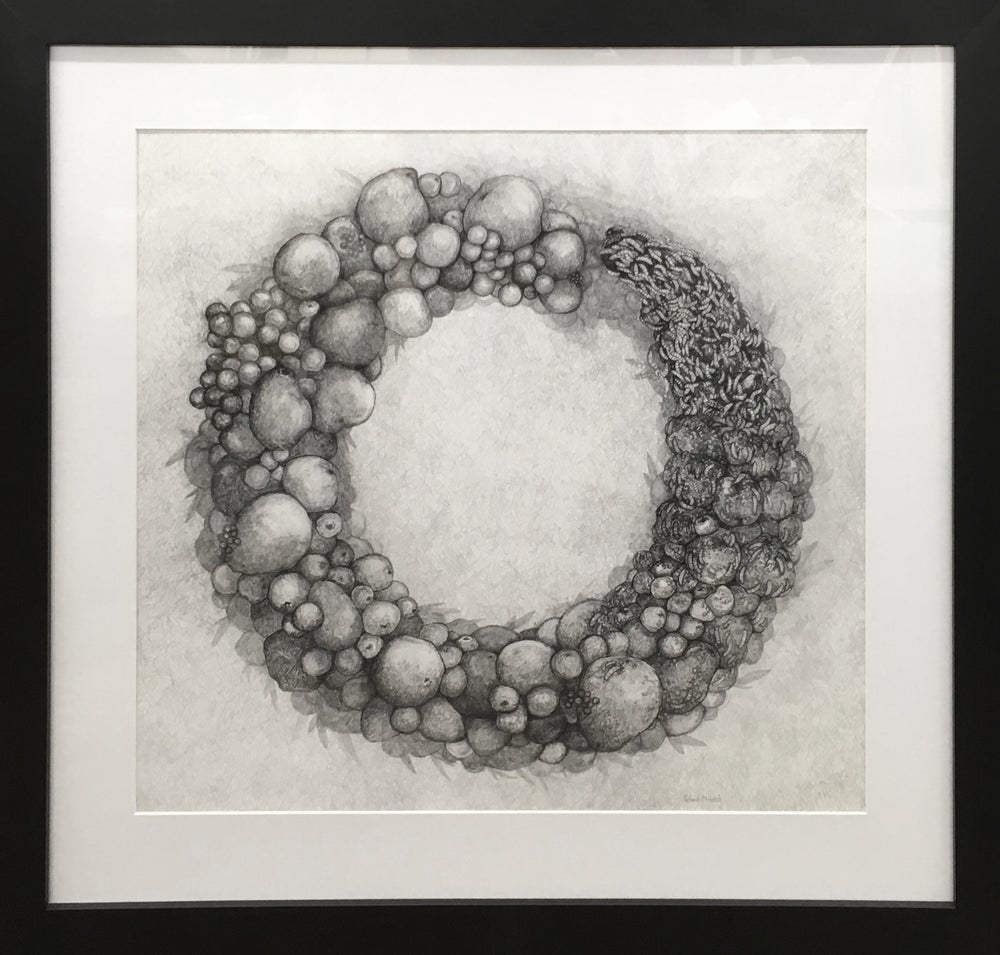 """Image of """"Ouroboros II - the fruits of labor are spoils of war""""   -  framed, Giclee`"""