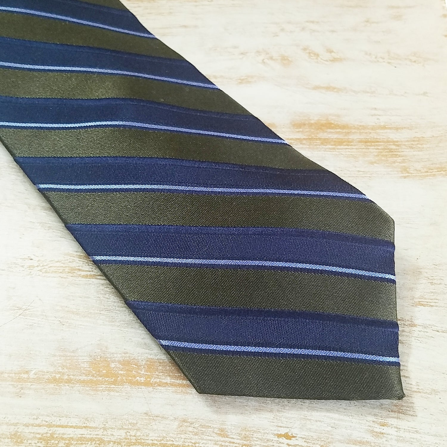 Image of BANKERS STRIPED NECKTIE