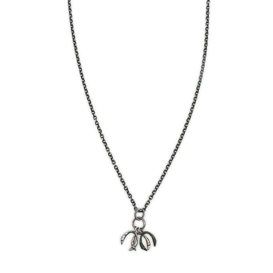 Image of triple silver & 10k gold horseshoe necklace (P138sil10k1518)