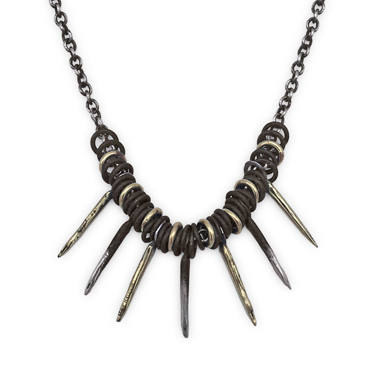 Image of Snake Spike & Jump-Ring Necklace