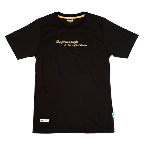 "Image of LANSI ""Pretty Ugly"" T-shirt (Black)"