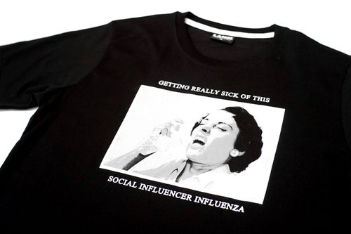 "Image of LANSI ""Influenza"" T-shirt (Black)"