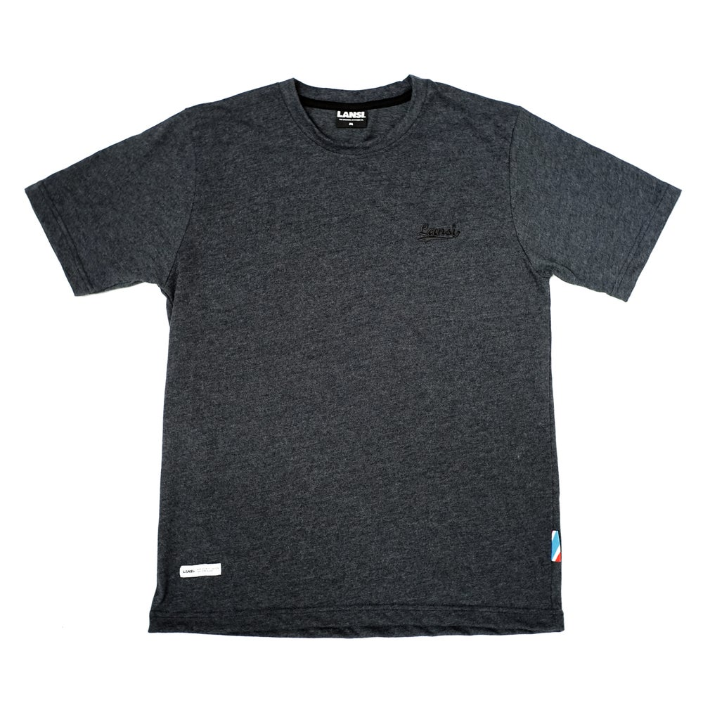"Image of LANSI Stitched Tee — ""Shadow"""