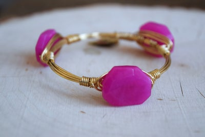 Image of Petite Pink Jade Bangle
