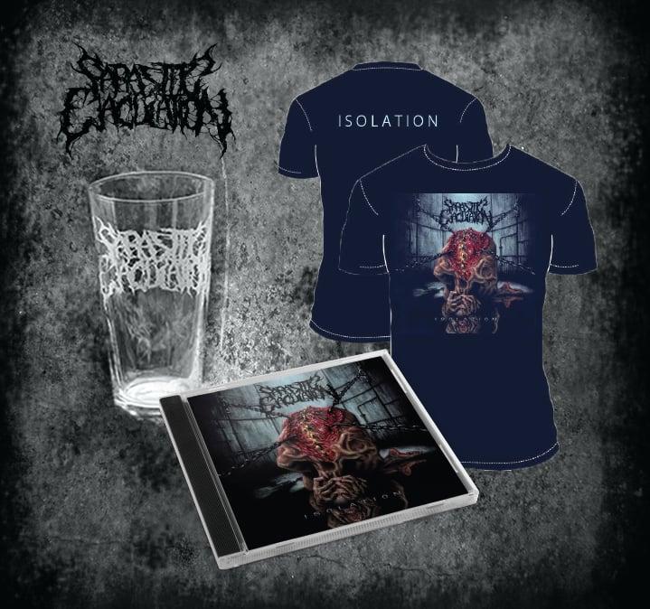 Image of Isolation CD, Shirt, Pint Glass Bundle