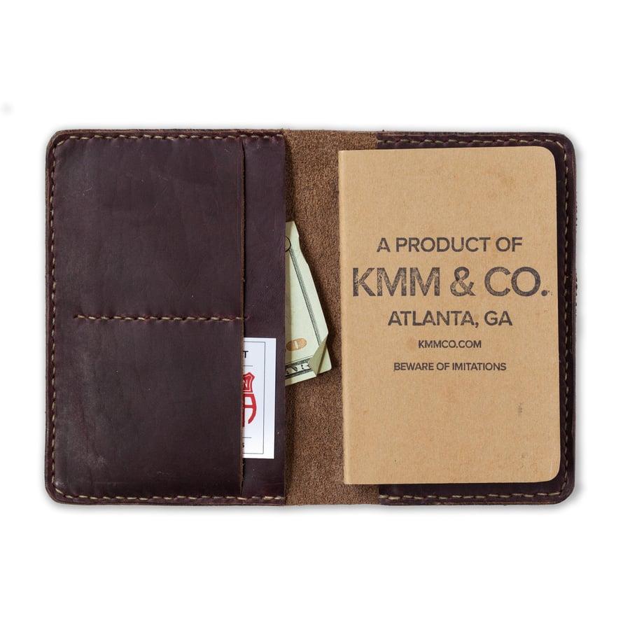 Image of Oxblood Notebook Wallet