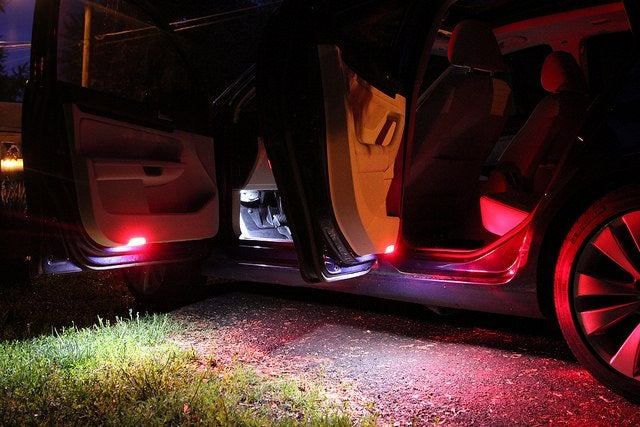 Image of Complete Door Warning / Puddle Housing with LEDs Fits Many Volkswagen Models