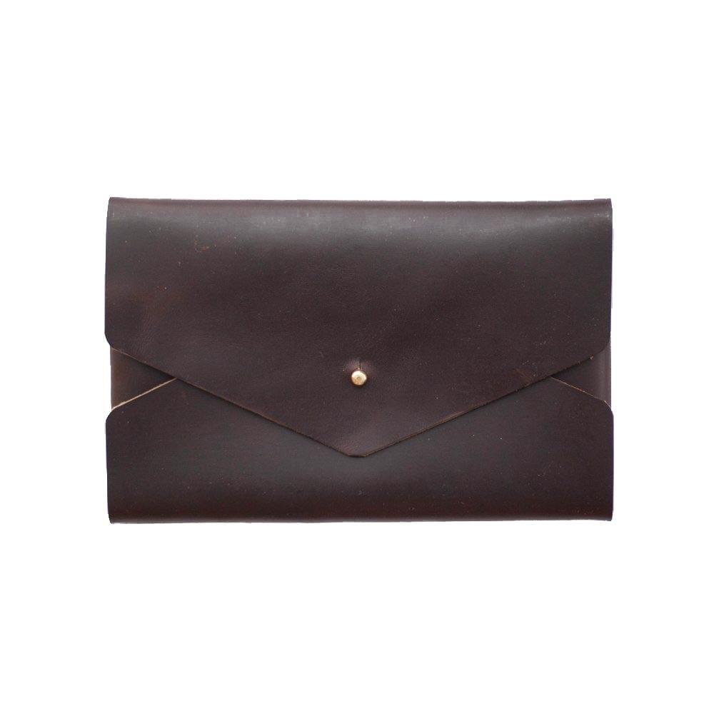 Image of Brown Horween Chromexcel Envelope Clutch