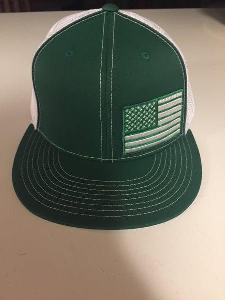 Image of The one, The only, The OG.... Green & White Flag Flatbill ballcap!