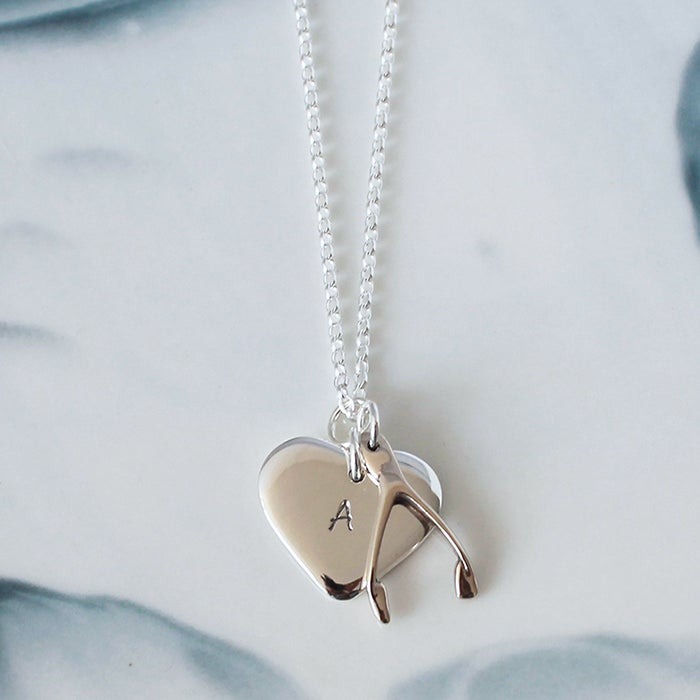 our n necklace sterling products minimalist charm lucky shop in silver vibes