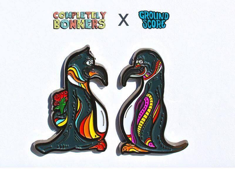 Completely Bonkers - His & Hers Penguins pin set