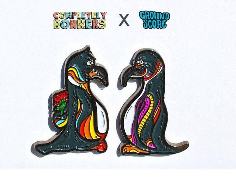 Image of Completely Bonkers - His & Hers Penguins pin set