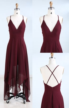 Stylish Homecoming Dresses, High Low Party Dresses, Short Prom Dresses