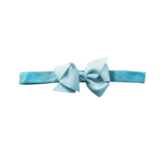 Image of Powder Blue Baby Bow Headband