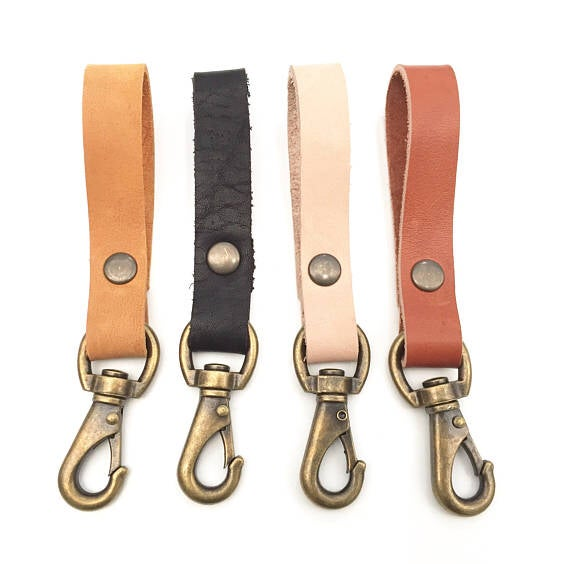 Image of Leather Belt Key Loop