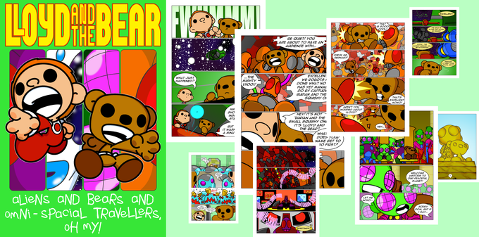 Image of Lloyd and the Bear Volume 2 - Aliens and Bears and Omni-Spacial Travellers, Oh my!