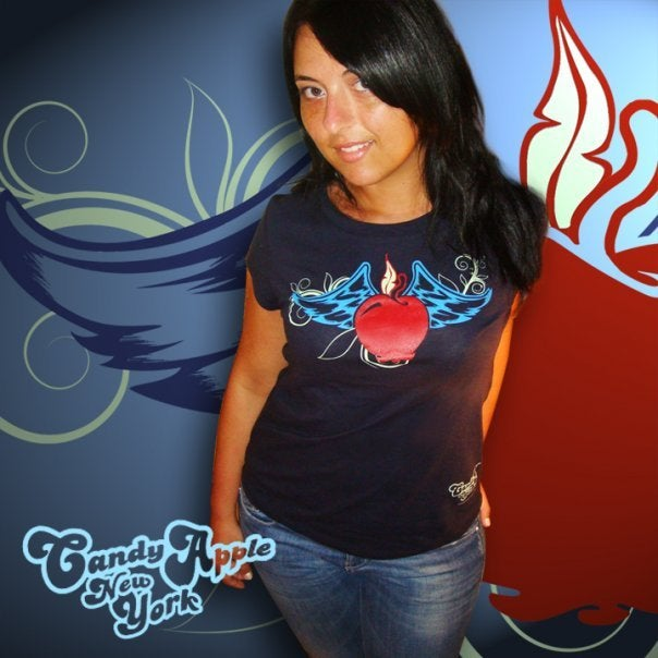 Image of Flying Apple tee shirt