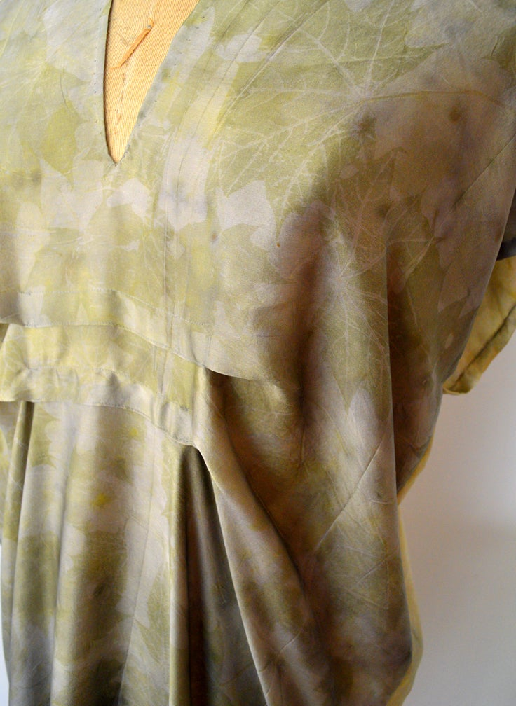 Image of bronze easy kaftan dress