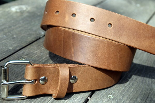 Image of Made to Measure Belt in Sand Seidel Latigo