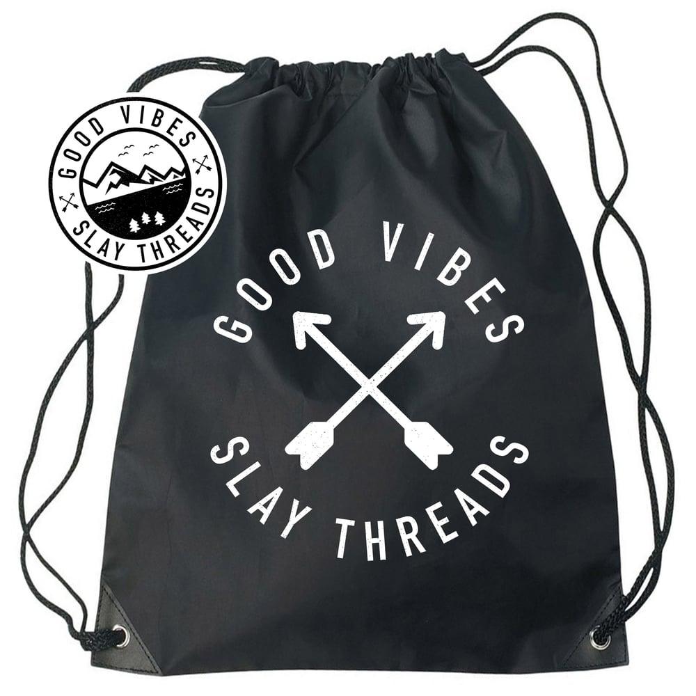 Image of Good Vibes Drawstring Bags
