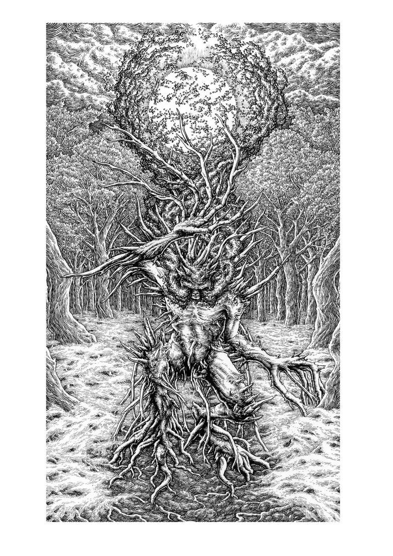 "Image of SOLD - ""Dendromorphosis"" original LOCUSTA artwork"