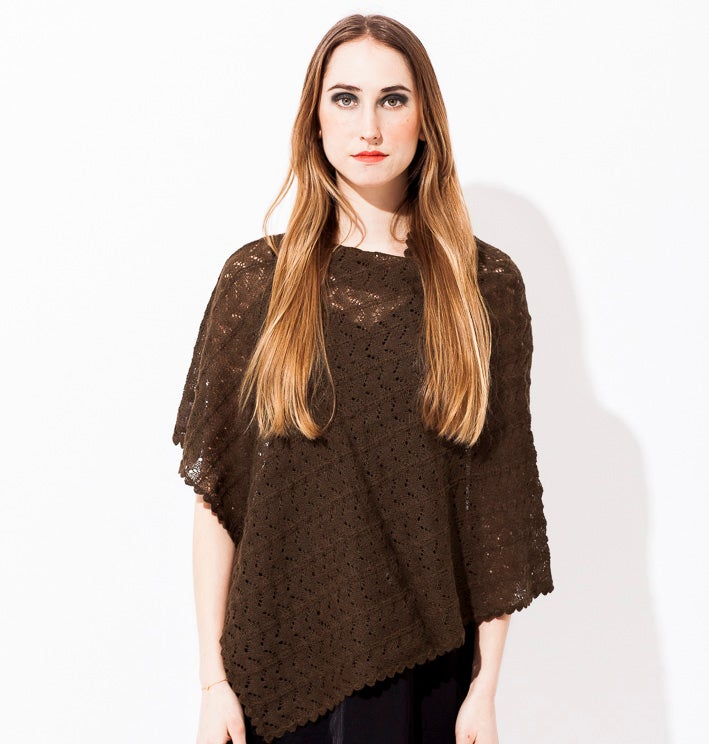 Image of Lace knitted poncho    Umbra