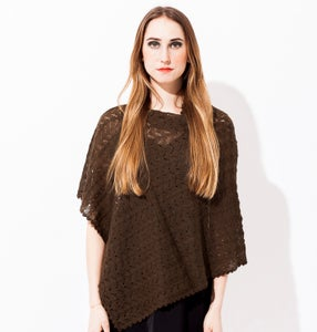 Image of Laceknitted poncho    Umbra
