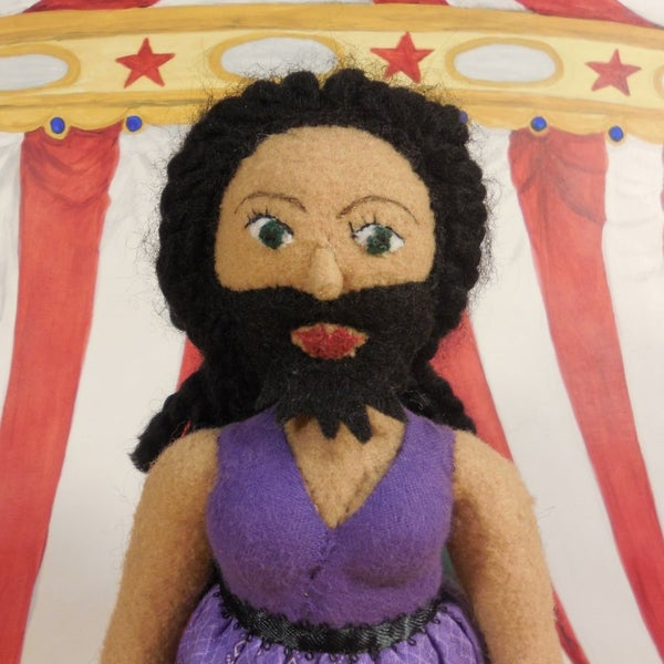 Image of Bearded Lady plush doll