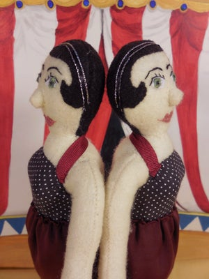 Image of Conjoined Twins plush doll