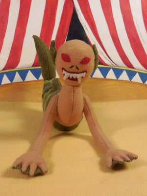 Image of Fiji Mermaid, handmade plush toy