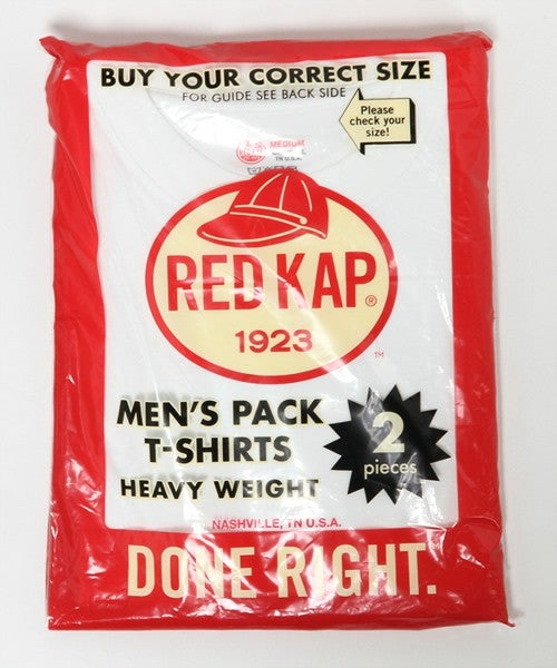 Image of RED KAP 6.7oz PACK TSHIRT -White (without pocket)