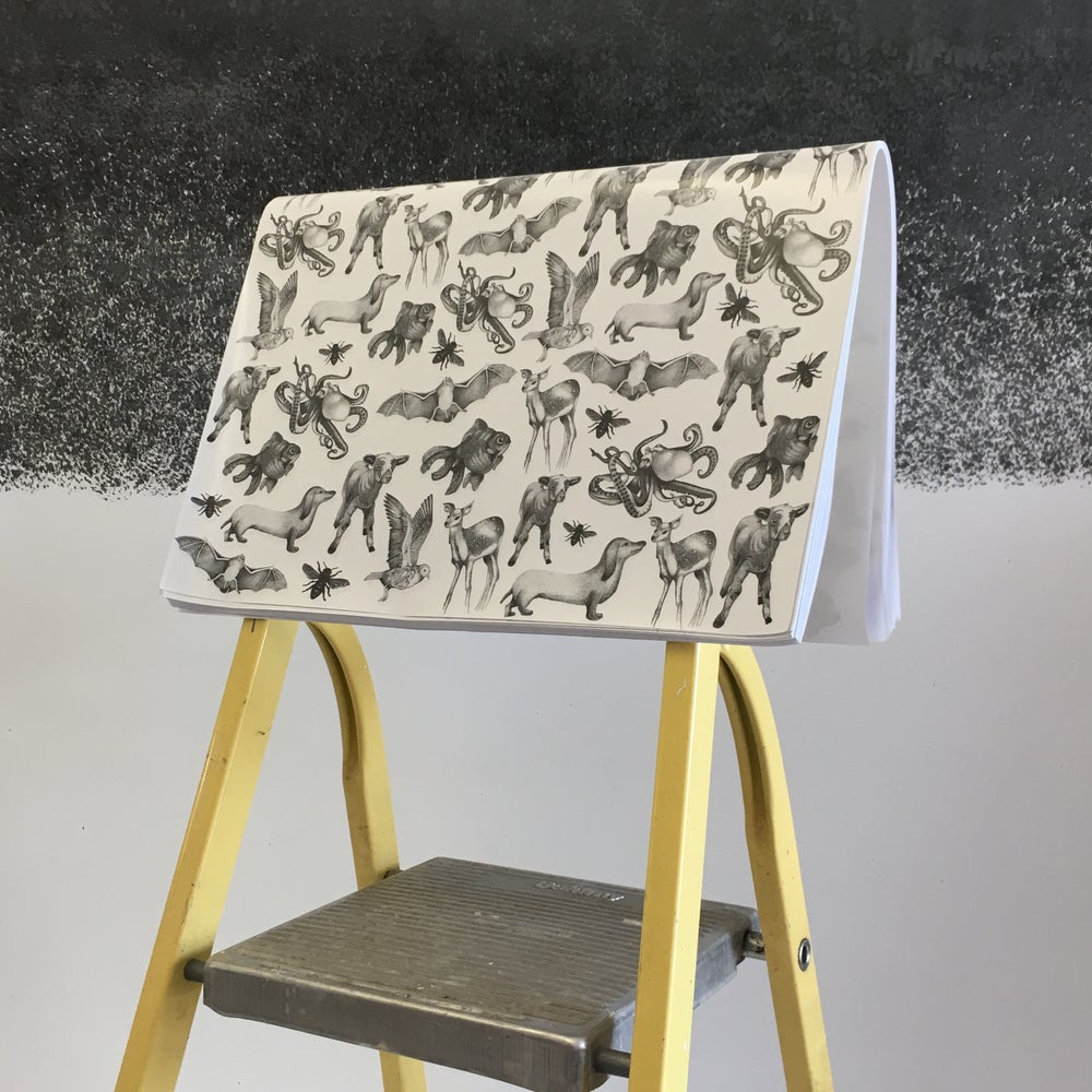 Image of Luxe Illustrated Wrapping Paper