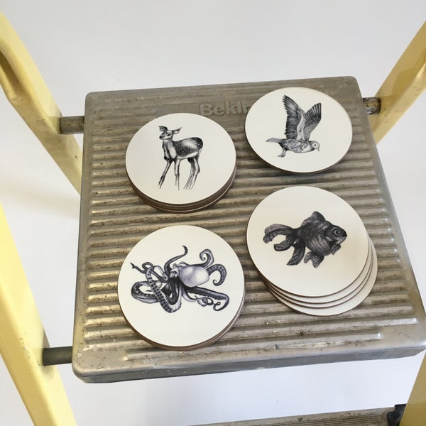 Image of Animal Illustrated Coasters