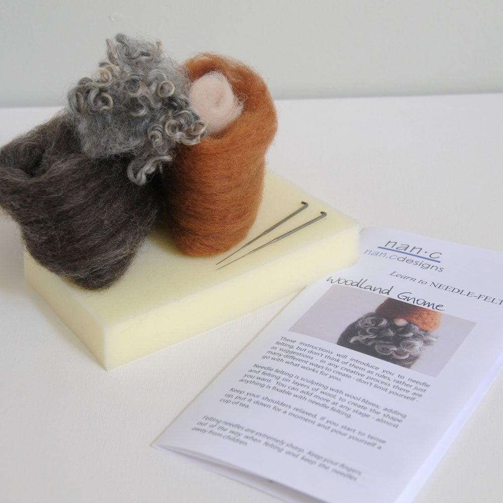 Woodland Gnome - Needle Felting Kit