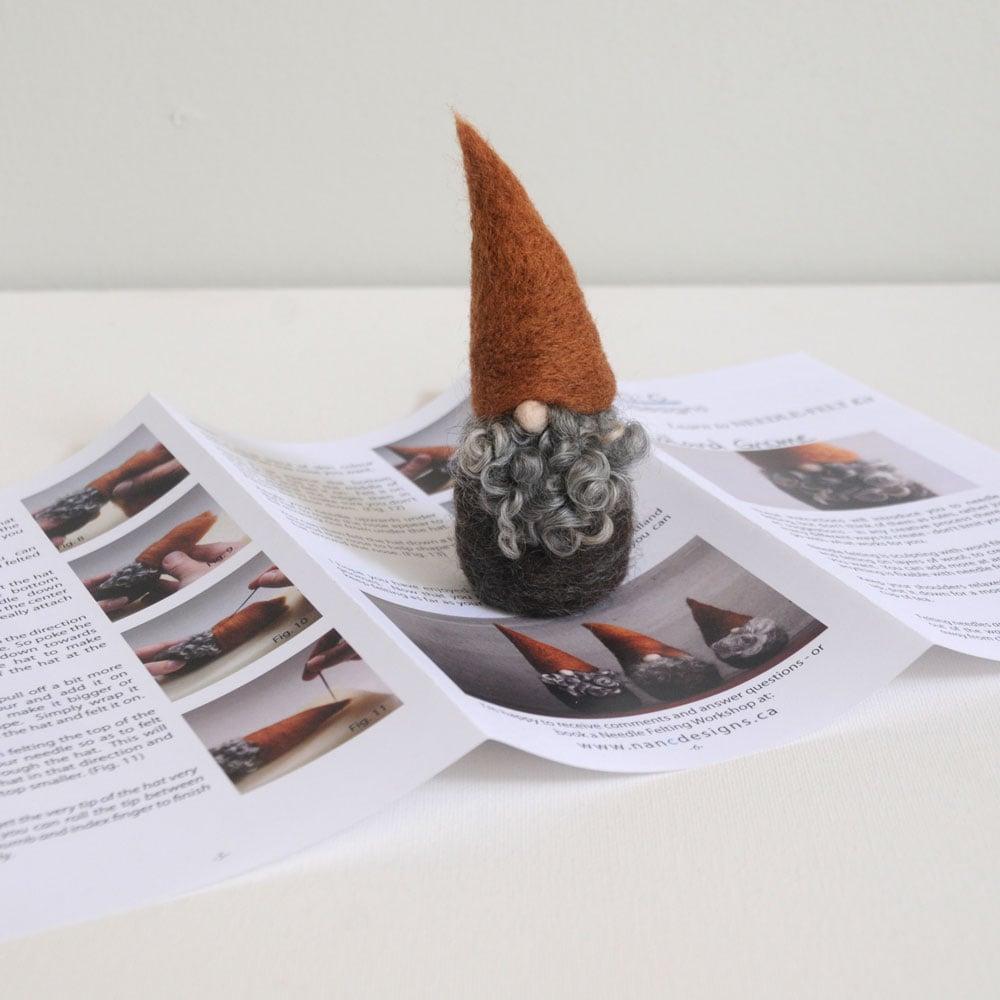 Image of Woodland Gnome - Needle Felting Kit