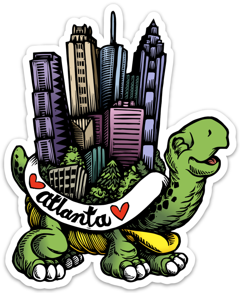 Image of Atlanta Turtle Vinyl Sticker
