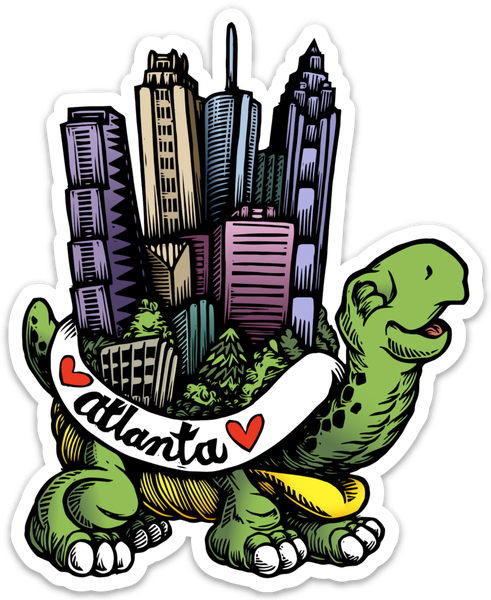 Image of Atlanta Turtle Vinyl Sticker
