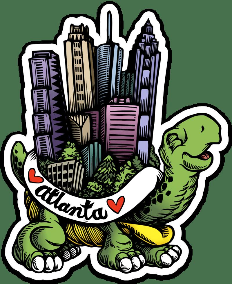 Atlanta Turtle Vinyl Sticker